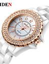 여성용 캐쥬얼 시계 패션 시계 손목 시계 중국어 석영 캐쥬얼 시계 세라믹 밴드 캐쥬얼 우아한 화이트