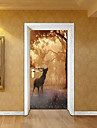 Животные Рождество ботанический Наклейки Корпус Простые наклейки 3D наклейки Декоративные наклейки на стены Свадебные наклейки, Бумага