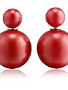 Women's Stud Earrings Basic Fashion Pearl Resin Ball Jewelry Wedding Party Daily Casual Sports Costume Jewelry