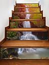 Пейзаж Цветочные мотивы/ботанический 3D Наклейки Корпус Простые наклейки 3D наклейки Декоративные наклейки на стены Свадебные наклейки,