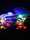 HKV String Lights 10 LEDs Warm White Cold White RGB+Warm Green Blue Red Waterproof <5V