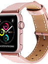 시계 밴드 용 Apple Watch Series 3 / 2 / 1 Apple 가죽 루프 천연 가죽 손목 스트랩