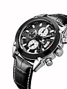 MEGIR Men\'s Wrist watch Dress Watch Fashion Watch Casual Watch Quartz Calendar / date / day Leather Band Casual Cool Black