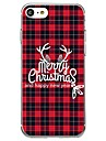 Capinha Para Apple iPhone 8 iPhone 8 Plus Estampada Capa Traseira Natal Macia TPU para iPhone X iPhone 8 Plus iPhone 8 iPhone 7 Plus