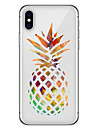 Coque Pour Apple iPhone X iPhone 8 Plus Motif Coque Arriere Fruit Flexible TPU pour iPhone X iPhone 8 Plus iPhone 8 iPhone 7 Plus iPhone