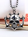 Men\'s Skull Shape Hip-Hop Fashion Pendant Necklace , Alloy Pendant Necklace Carnival Going out Costume Jewelry