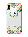 Coque Pour Apple iPhone X iPhone 8 Transparente Motif Coque Fleur Flexible TPU pour iPhone X iPhone 8 Plus iPhone 8 iPhone 7 Plus iPhone