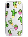 Capinha Para Apple iPhone X iPhone 8 Plus Estampada Capa Traseira Desenho Animado Macia TPU para iPhone X iPhone 8 Plus iPhone 8 iPhone 7