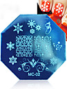 3 Pcs Nail Printing Template Christmas Printing Plate Octagonal Template MC Series 3 Color Mixed Women Decoration Cosmetic