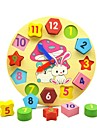 Wooden Clock Toy Educational Toy Toys Geometric Education Wooden Children\'s Pieces