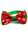 Cat Dog Collar Tie/Bow Tie Portable Foldable Adjustable Flexible Color Block Lolita Fabric Red