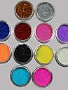 36 Glitter & Poudre Po acrilico Po Paetes Caviar Beads Flor Abstracto Classico Adoravel Casamento Alta qualidade Diario