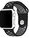 Bracelet de Montre  pour Apple Watch Series 3 / 2 / 1 Apple Watch Series 3 Apple Sangle de Poignet Bracelet Sport Silikon