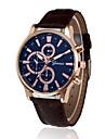 Муж. Жен. Повседневные часы Модные часы Наручные часы Китайский Кварцевый Календарь Секундомер Защита от влаги Повседневные часы Кожа