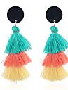 Women\'s Tassel Bohemian Colorful Drop Earrings Dangle Earrings - Tassel Bohemian Colorful Circle For Party Gift