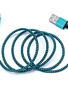 USB 2.0 Micro USB USB Cable Adapter Braided Cable For Samsung LG 100 cm Nylon
