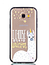 Case For Samsung Galaxy A8 2018 A8 Plus 2018 Transparent Pattern Embossed Back Cover Word / Phrase Cartoon Hard PC for A5(2018) A7(2018)
