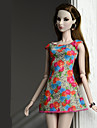 Dresses Dresses For Barbiedoll Orange red Poly / Cotton Dress For Girl\'s Doll Toy