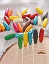 Joias DIY 30 pcs Contas Composto Madeira-Plastico Arco-iris Redonda Bead 0.8*0.23 cm faca voce mesmo Colar Pulseiras