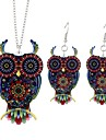 Women\'s Drop Earrings Pendant Necklace , Animals Simple Fashion Ceremony Going out Alloy Owl 1 Necklace Earrings