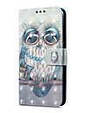 케이스 제품 Huawei P9 라이트 미니 카드 홀더 지갑 스탠드 플립 마그네틱 패턴 전체 바디 케이스 부엉이 하드 PU 가죽 용 P9 lite mini Huawei