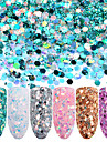 Sequins / Glitter Powder Classic Nail Art Design Daily
