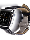 Watch Band for Apple Watch Series 3 / 2 / 1 Apple Butterfly Buckle Leather Wrist Strap