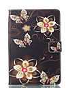 Case For Apple iPad mini 4 / iPad Mini 3/2/1 with Stand / Flip / Pattern Full Body Cases Butterfly Hard PU Leather for iPad Mini 3/2/1 / iPad Mini 4
