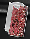 Case For Apple iPhone 8 iPhone 8 Plus Rhinestone Flowing Liquid Transparent Back Cover Glitter Shine Hard PC for iPhone 8 Plus iPhone 8