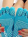 Per donna Calze yoga - Azzurro chiaro, Grigio, Lilla Gli sport Calzini / Calze Abbigliamento sportivo Traspirante, Anti-slittamento