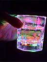 1pc Night Light LED Multicolore Pulsante a batteria Senza fili Colore variabile
