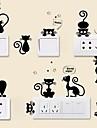 Zvířata Samolepky na zeď Samolepky na stěnu Ozdobné samolepky na zeď Samolepky na spínač světla, Vinyl Home dekorace Lepicí obraz na stěnu