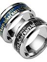 Муж. Кольцо - Геометрической формы Мода Черный / Синий Кольцо Назначение Повседневные