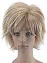 Synthetische pruiken Gekruld Blond Gelaagd kapsel Beige Blond Synthetisch haar Dames Natuurlijke haarlijn Blond Pruik Kort Zonder kap hairjoy