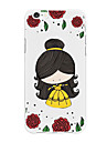 Etui Til Apple iPhone X / iPhone 8 Plus Mønster Bagcover Tegneserie / Blomst Blødt TPU for iPhone X / iPhone 8 Plus / iPhone 8