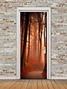 Krajina Květinový/Botanický motiv Samolepky na zeď Samolepky na stěnu 3D samolepky na zeď Ozdobné samolepky na zeď Samolepky na dveře,