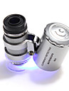 60X LED Microscope Portable Camping / Hiking Everyday Use Plastics Metal - SILVER