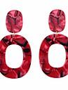 Жен. Серьги-слезки / Серьги-кольца - европейский Красный / Розовый / Света кофе Назначение Повседневные / Официальные