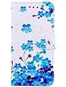 Etui Til Samsung Galaxy S8 Plus / S8 Lommebok / Kortholder / med stativ Heldekkende etui Blomsternaal i krystall Hard PU Leather til S8 Plus / S8 / S7 edge