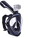 Mascara de Snorkel Mascaras de mergulho Anti-Vazamento 180 Graus Mascaras Faciais Natacao Mergulho Silicone