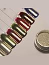1 pcs Poudre de paillettes Effet miroir / Nail Glitter Nail Art Design Brillant Mariage / Soiree / Fete