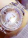 Γυναικεία Ρολόι Φορέματος Diamond Watch χρυσό ρολόι Ανοξείδωτο Ατσάλι Ασημί / Χρυσό 50 m Χρονογράφος Φωτίζει απομίμηση διαμαντιών Αναλογικό κυρίες Πολυτέλεια Λάμψη - Χρυσό Ασημί / Δύο χρόνια