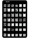 1 pcs Outil d\'estampage des ongles Modele Original / Dessin Anime Nail Art Design Noel / Mariage / Anniversaire