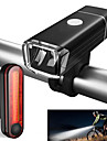 LED اضواء الدراجة طقم مصابيح دراجة قابل لإعادة الشحن ضوء الدراجة الأمامي ضوء الدراجة الخلفي دراجة جبلية ركوب الدراجة ضد الماء محمول Li-ion 500 lm أخضر