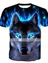 T-shirt - Taglie forti Per uomo Essenziale Con stampe, Animali Rotonda / Manica corta / Taglia piccola