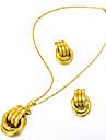 Комплект ювелирных изделий - Мода, Массивный Включают Серьги-слезки / Ожерелья с подвесками Золотой Назначение Свадьба / Для вечеринок