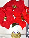 Artificial Flowers 1 Branch Traditional / Classic Poinsettia Tabletop Flower