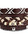 Многослойность / стек Кожаные браслеты - Мода, Многослойный Браслеты Коричневый Назначение Официальные / Для улицы