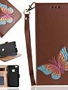 Coque Pour Samsung Galaxy S8 S7 Porte Carte Portefeuille Clapet Coque Integrale Papillon Dur faux cuir pour S8 S7 edge S7