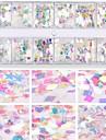 1kpl Glitter Nail Art -lomakkeet Cute kynsitaide Manikyyri Pedikyyri kiiltää / Paljetti Päivittäin